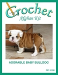 Adorable Baby Bulldog Crochet Afghan Kit