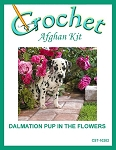 Dalmation Pup In The Flowers Crochet Afghan Kit