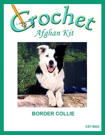 Border Collie Crochet Afghan Kit