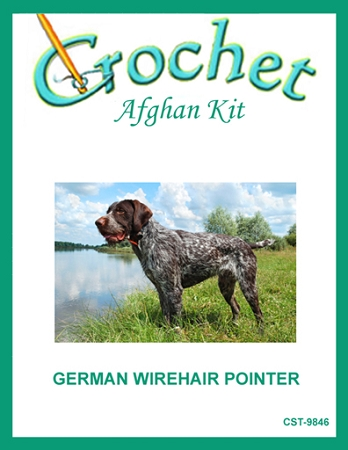 German Wirehair Pointer Crochet Afghan Kit