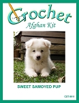 Sweet Samoyed Pup Crochet Afghan Kit