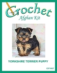 Yorkshire Terrier Puppy Crochet Afghan Kit