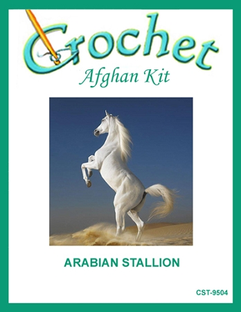 Arabian Stallion Crochet Afghan Kit