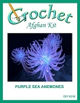 Purple Sea Anemones Crochet Afghan Kit