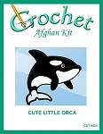 Cute Little Orca Crochet Afghan Kit