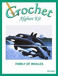 Family Of Whales Crochet Afghan Kit