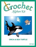 Orca & Sea Turtle Crochet Afghan Kit