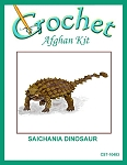 Saichania Dinosaur Crochet Afghan Kit