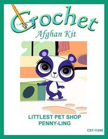 Littlest pet shop penny ling crochet afghan kit