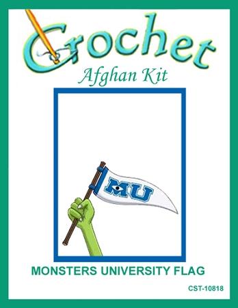 Monsters University Flag Crochet Afghan Kit