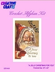 A Jolly Christmas For You Crochet Afghan Kit