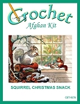 Squirrel Christmas Snack Afghan Kit