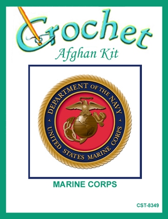 Marine Corps Crochet Afghan Kit
