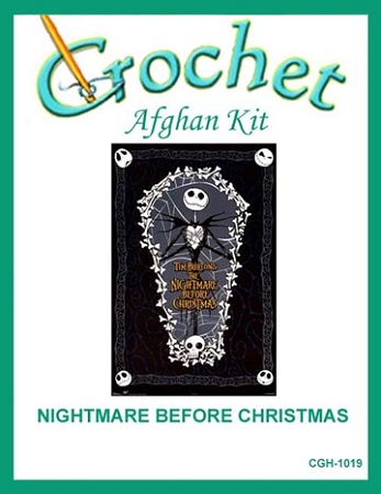 Crochet Patterns Nightmare Before Christmas : ... Movies/TV Afghan Kits > Nightmare Before Christmas Crochet Afghan Kit