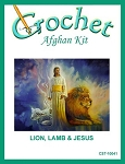 Lion, Lamb and Jesus Crochet Afghan Kit