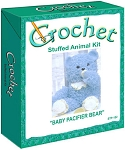 Baby Pacifier Bear Stuffed Animal Crochet Kit