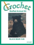 Black Bear Cub Stuffed Animal Crochet Kit
