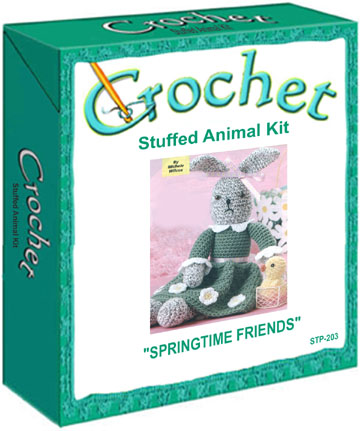 Plush Craft Animal Friends Pillow Kit : Springtime Friends Stuffed Animal Crochet Kit
