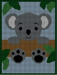 Koala Bear In Tree Crochet Pattern
