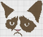 Grumpy Kitty Face Crochet Pattern