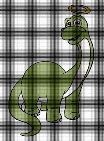Dinosaur Angel Crochet Pattern