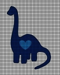 Dinosaur Heart Crochet Pattern