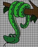 Snake in a Tree Crochet Pattern