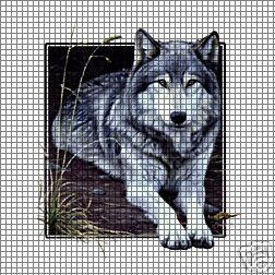 Wolf Square Crochet Pattern