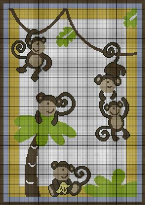 Crochet Patterns - Baby Jungle Monkey Afghan Pattern used