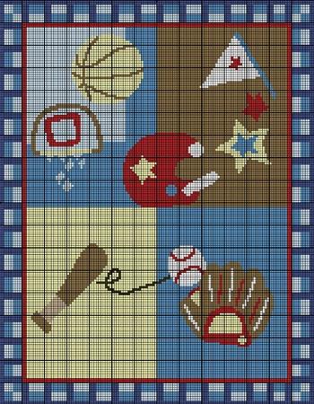 Baby Sports Fan Crochet Pattern