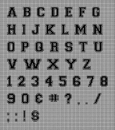 Collegiate Letters Crochet Pattern Classy Crochet Letters Patterns