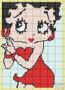 Betty Boop Square Crochet Pattern