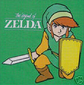 Crochet Zelda Patterns : Home > Crochet Graph Patterns > Cartoons > Zelda > Green Zelda Cr...