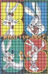 Bugs Bunny 4 Squares Crochet Pattern