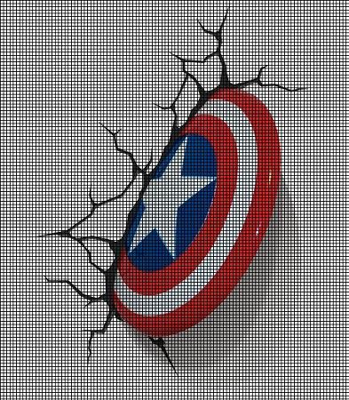 Captain America Shield Crash Crochet Pattern