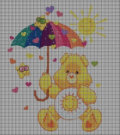Funshine Bear With Umbrella Crochet Pattern