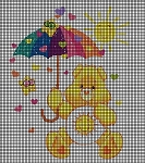Funshine Bear With Umbrella  Crochet Pattern