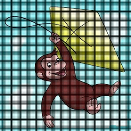 Curious George Fly S A Kite Crochet Pattern