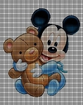 Baby Mickey with Teddy Crochet Pattern