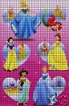 Disney Princess Collage Crochet Pattern