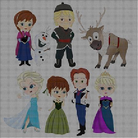 Frozen Characters Crochet Pattern