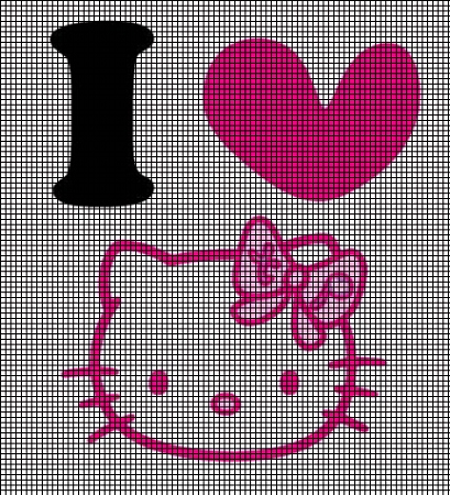 I Love Hello Kitty Crochet Pattern