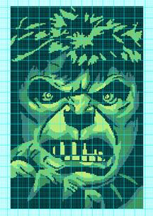 Incredible Hulk Face Crochet Pattern