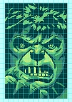 Incredible Hulk Face Crochet Pattern