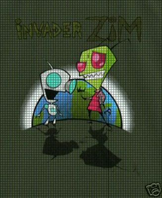 Crochet Invader Zim Patterns : Crochet Graph Patterns > Cartoons > Invader Zim > Invader Zim Croche...