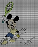 Mickey's Tennis Game Crochet Pattern