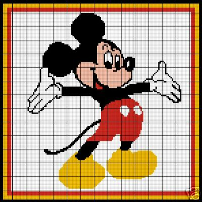 Mickey Mouse Crochet Pattern Inspiration Mickey Mouse Pattern
