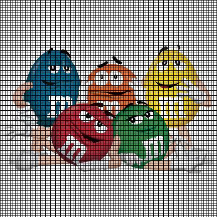 M Amp M Candy Group Crochet Pattern