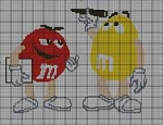 Working M & M's Crochet Pattern