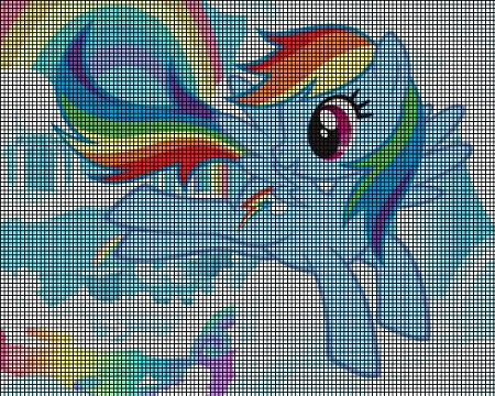 my little pony my little pony rainbow dash crochet pattern part number